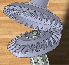 Paloidní ozubení - model